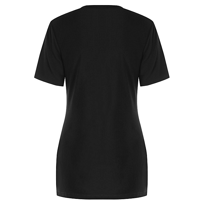 38c50445 DRESSFO Heart Print Valentines Day Matching Couple Short Sleeve T-shirt- WOMEN M
