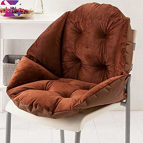 Soft Seat Cushion Back Cushion Surrounded By Lovely Office Chair Shell Cushion--BROWN