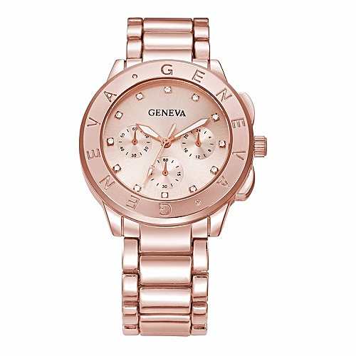 Women's Luxury Rhinestone Stainless Steel Watch - Rose Gold