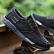 3285e5e7187 Denim Men Casual Canvas Shoes- Black