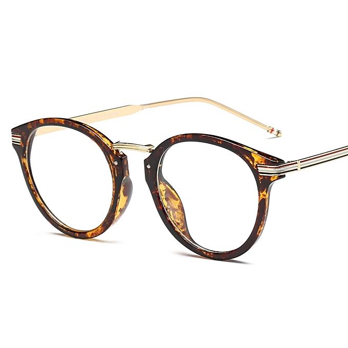 b68c4bfe31 Brand Retro Eyeglasses Frame Metal Round Striped Prescription Glasses Frame  Myopia Optical Glasses Eyewear Frame For