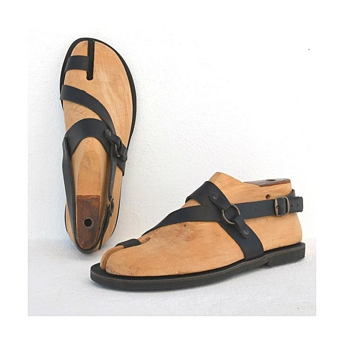 525a3b8c0 Fashion Men Leather Sandals - Black