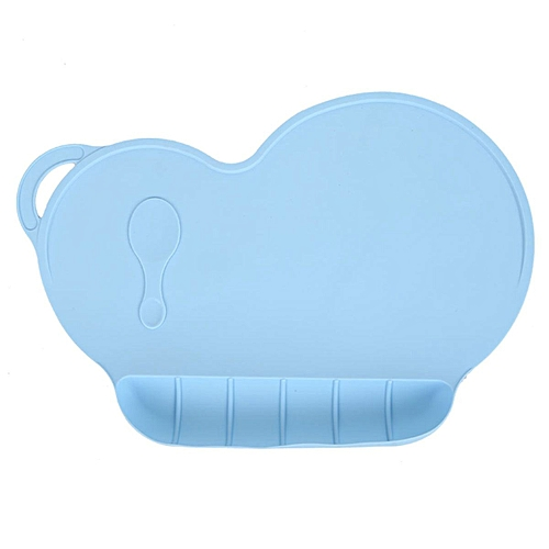 Kids Silicone Placemat Slip Resistant Baby Toddler Plate Table Mat Portable BPA FREE (Light Blue)
