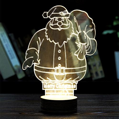 BRELONG 3D LED Night Light Table Desk Room Lamp Home Decoration Light -Ferris Wheel-Santa Claus