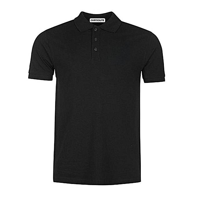 619ee81b Chrysolite Designs Plain Polo T-Shirt - Black | Jumia.com.ng