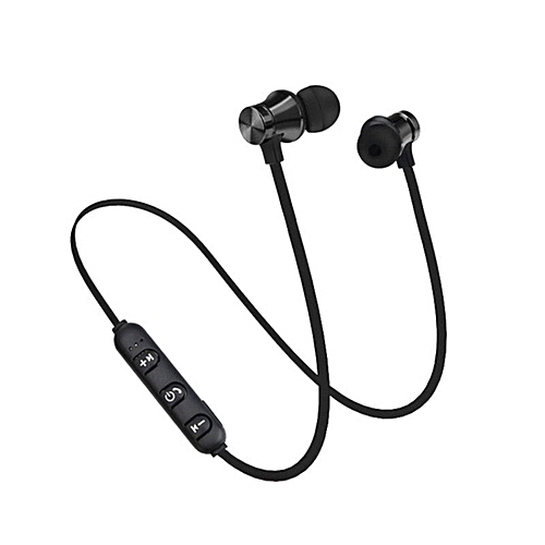 Magnetic XT11 Comfortable Wear Sport Running Wireless Bluetooth Earphones-black
