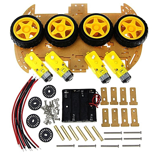 Smart Car Kit With Speed Encoder 4WD Robot Chassis Kits Diy