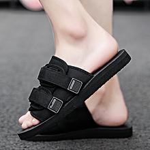 2db82540bdd6 Plus Size 35-47 Cool Men Summer Slippers Beach Slippers Comfortable Fashion Slippers  Men Summer
