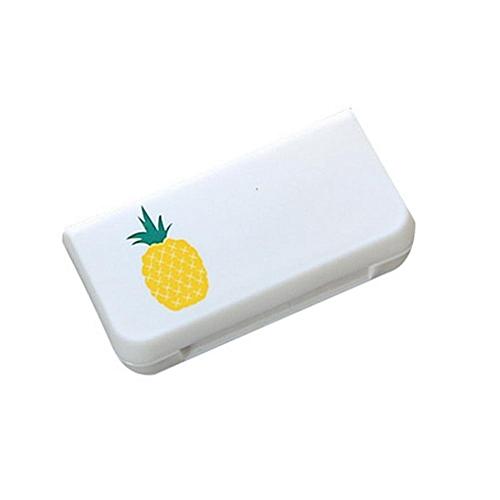 Mini 3 Grids Pill Case Portable Medicine Box Multi-styles Storage Container(Pineapple)