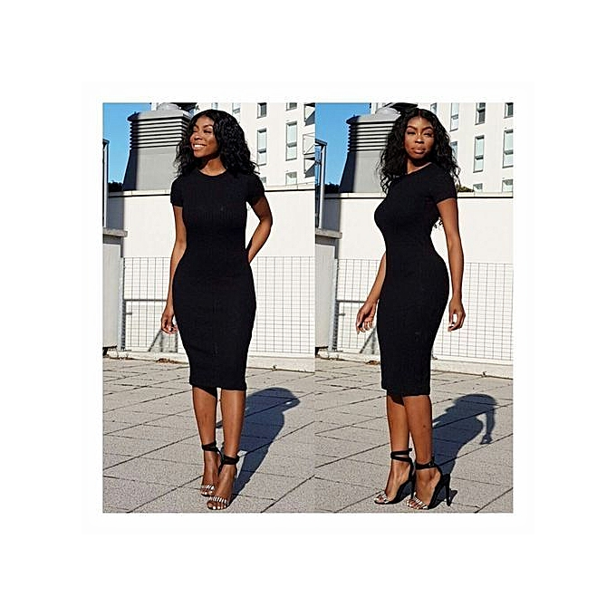579d10db6050 Fashion Sexy Black Dress