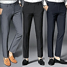 Three Pieces Smart Trousers For Men- Ash b4083928a