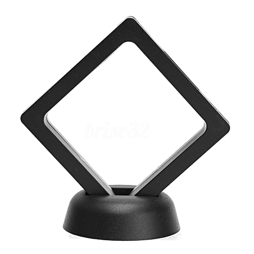 Square 3D Albums Floating Frame Holder Coin Box Jewelry Display Show Case, 9X9cm (With Base)