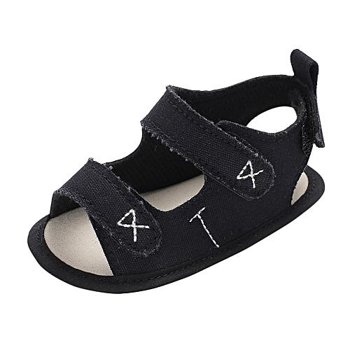 dd602e8ae78bd Fashion Fantynes Kids Baby Shoes Infant Toddler Newborn Baby Boys Girls Embroidery  Soft Sole Anti-slip-Black