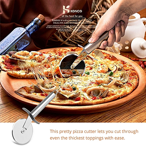 Stainless Steel Pizza Cutters Wheels Pizza Knife Cutters Cake Bread Pies Round Knife Cutter Pizza Tool