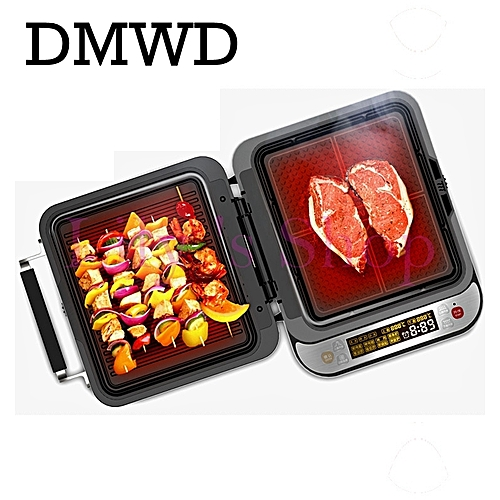 Intelligent Electrical Grill Griddle Electric Crepe Maker Pizza Machine Roast Beef Steak Frying Baking Pan Pancake EU US Plug