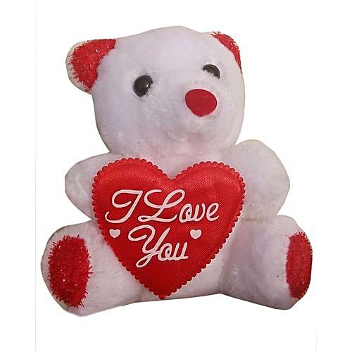 White I Love You Teddy -ss