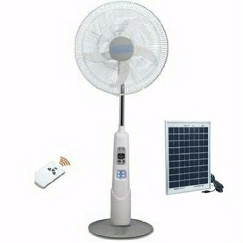 Rechargeable Fan With Solar Panel - 16 Inches