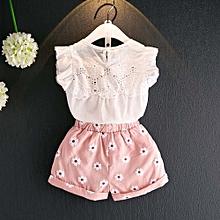 6d5e2248c1edd Fashion Toddler Kids Baby Girls Outfits Clothes T-shirt Vest Tops+Shorts  Pants 2PCS