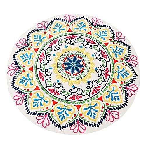 Round Mandala Tapestry Indian Wall Hanging Beach Throw Towel