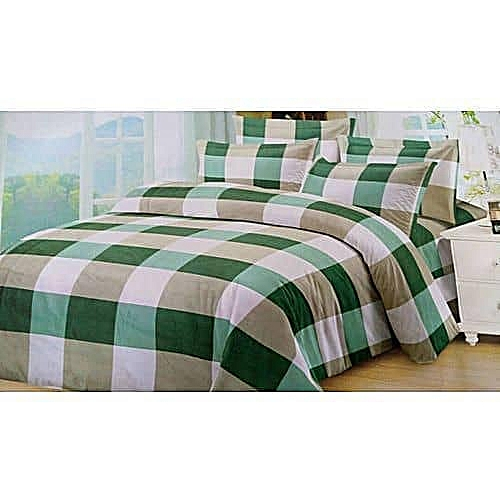 Bedsheet With Four Pillow Case -Lemon Square
