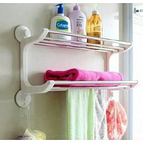Generic Bathroom/Kitchen Double Layer Storage And Towel Rack