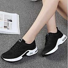 Casual Fashion Round Head Black Sports Red Shoes for sale  Nigeria