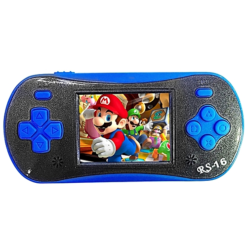 Children Pocket Video Game Player Exquisite Game Machine Birthday Festival Gift Color:blue