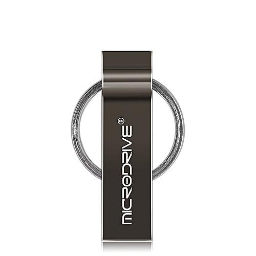 MicroDrive 4GB USB 2.0 Metal Keychain U Disk (Black)