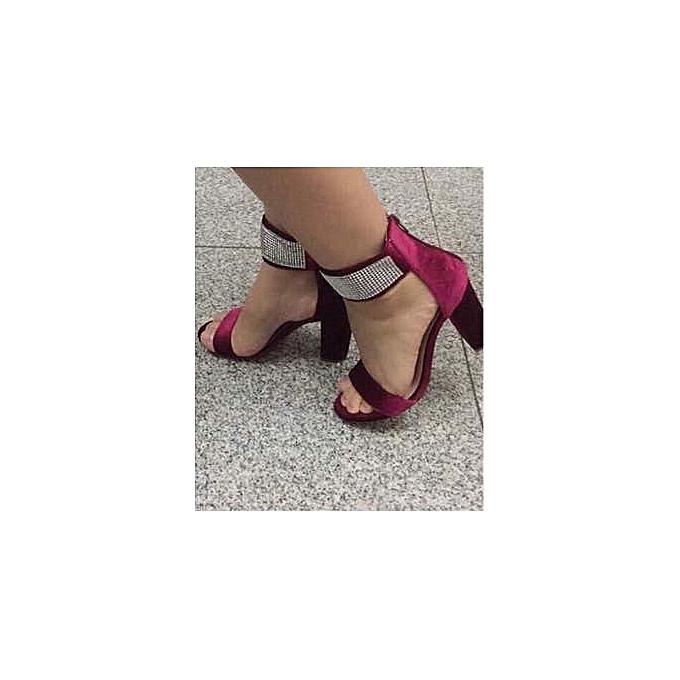 d1c04793c2f7 Fashion Women Unique High Heel Strap Ankle Block Sandals Open Toe ...