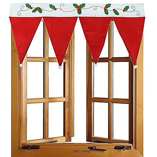 Christmas Home Decoration Door Window Curtain