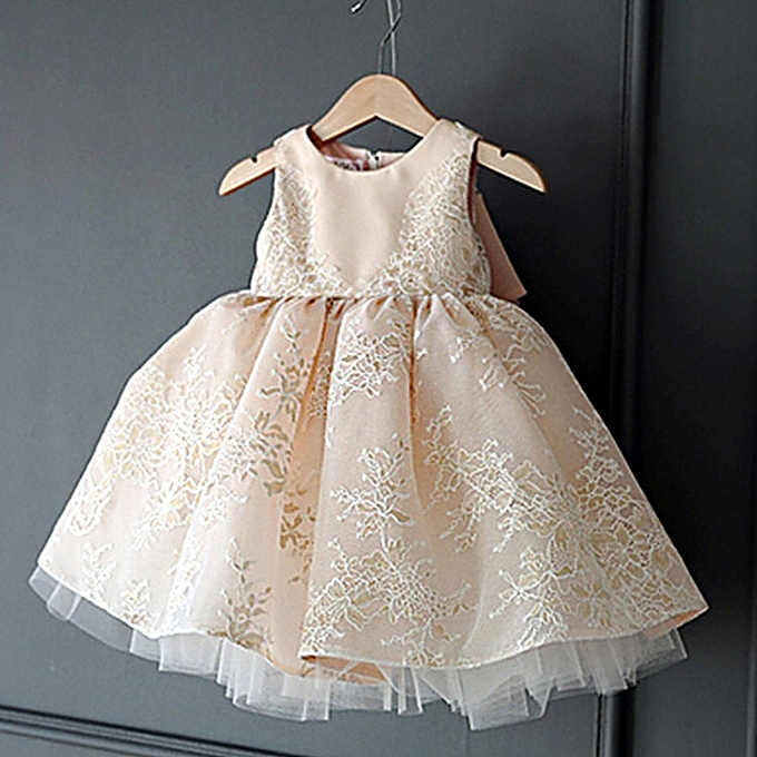 024ffe08d72 Infant Baby Girl Dress Flower Party Gown