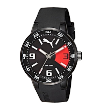 9e5d6ae521f5 Puma PU104171001 Men  039 s Black Sports Rubber Strap Watch