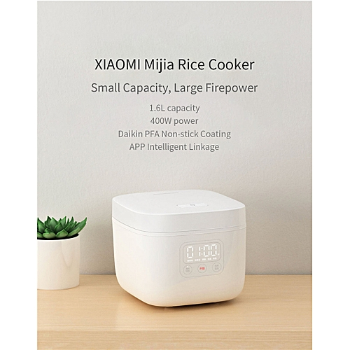 XIAOMI Mijia DFB201CM Small Rice Cooker 1.6L 400W APP Linkage Non-stick Rice Cooker LED Display Wireless Connections