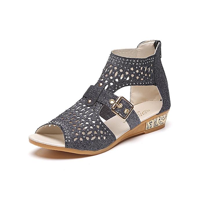 410059773 Fashion Trendy Women Wedge Sandals Female Ladies Casual Shoes -black ...