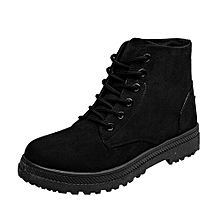 aaaba7889 Women  039 s Ankle Boots Casual Canvas Shoes Student Flat Shoes Lace ...