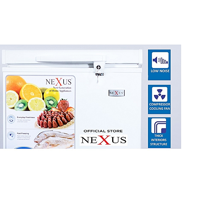 Nexus Chest Freezer- 100L White