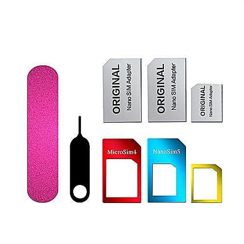 Metal 5 In 1 SIM Card Adaptor Set
