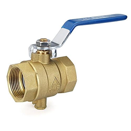 TMOK Manual Internal Threaded Brass Temperature Gauge Ball Valve For Thermometer DN32