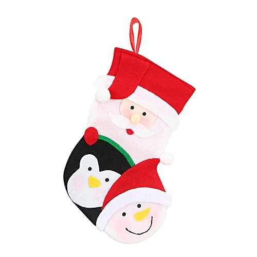 Christmas Gifts Candy Beads Christmas Santa Claus Snowman Socks Decorations