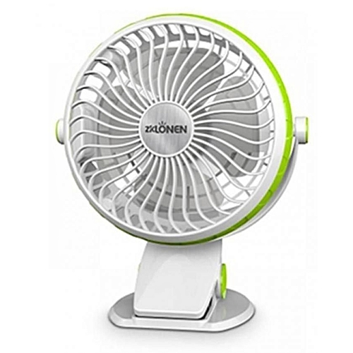 4 Inches Rechargeable Table Fan (With Clip-On Option)