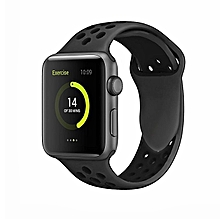 Watch Band 42mm 38mm,Soft Silicone Strap Replacement Wristbands For Watch Sport Series 3 Series