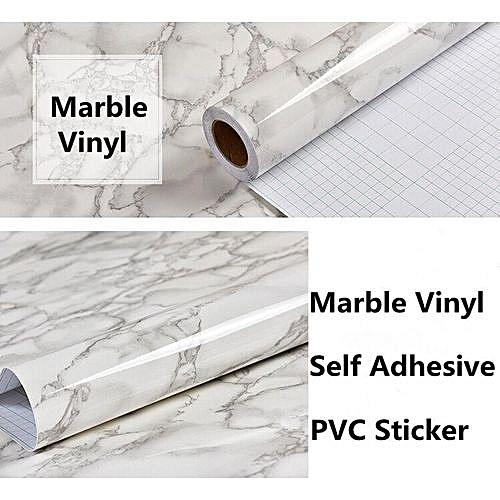 White-Grey Granite Marble Effect CounterTop Self Adhesive Vinyl Contact Paper