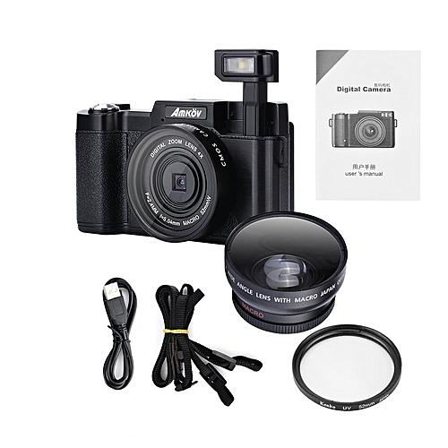 """TA-CDR2 24MP 1080P Mini Digital Camera With 4 Times Digital Zoom & 3"""" TFT Display*Black"""