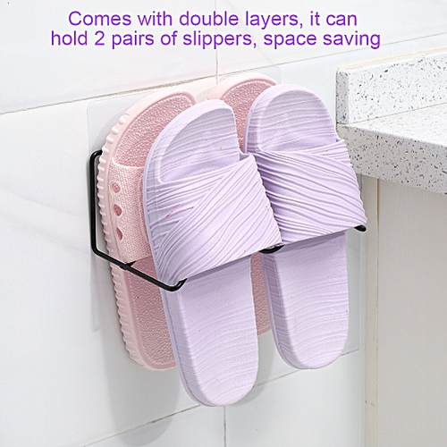 Double Layer Shoes Rack Hanger Shelf Holder Wall Mounted Shoes Rack