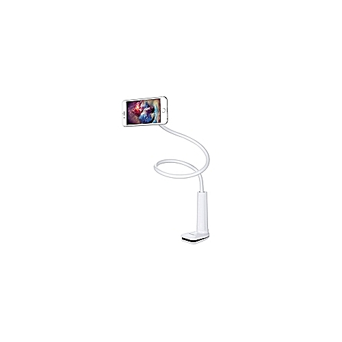 Flexible Lazy PC Tablet Stand Clamp Car/Bed Clip Desk Holder For IPad Tab White