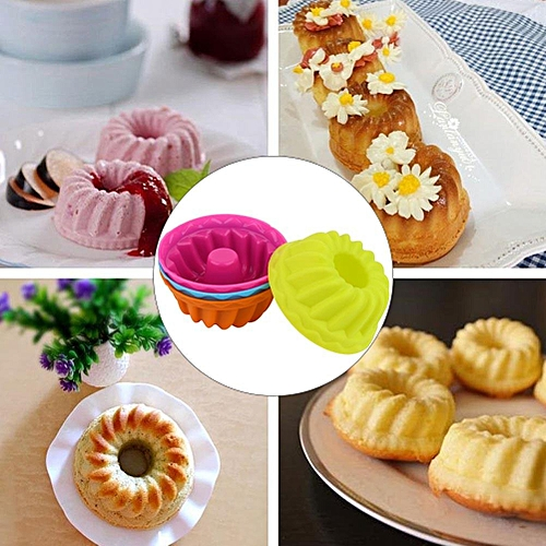 12Pcs Mini Pumpkin Silicone Cupcake Baking Nonstick Pastry Muffin Molds