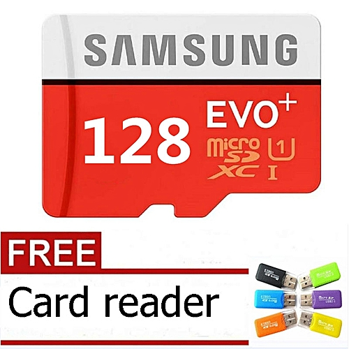 128GB Calss10 Micro Memory SD Card With Adaptor-Samsung Red