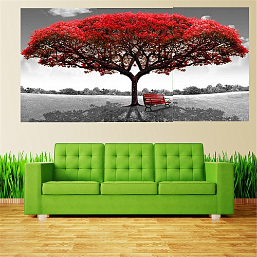Red Tree High Quality Best Selling Tree Home Wall Sticker Huge Decoration Modern Abstract Oil Painting On Canvas Art No Frame-Red