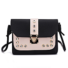df2210fc9fb2 Women Hit Color Rhinestone Shoulder Bag Messenger Satchel Tote Crossbody Bag