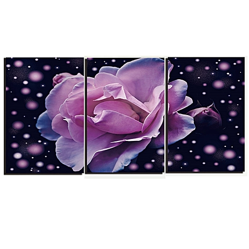 3 Unframed Roses Canvas Painting Picture Home Wall Decor Christmas Gift-40cm*55cm